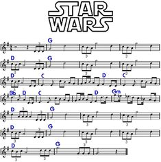 "Star Wars ""main title"" by John Williams, cicrca Funny, its kinda like ""Born free"" played inverted. Saxophone Sheet Music, Cello Music, Piano Sheet Music, Piano Songs, Guitar Songs, Ukulele, Violin Lessons, Music Lessons, Partition Disney"