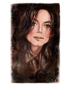 Michael Print By Mimi Ogarren