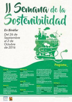 II Semana de la Sostenibilidad en Binéfar (Huesca) http://laoropendolasostenible.blogspot.com/2016/10/ii-semana-de-la-sostenibilidad-en.html