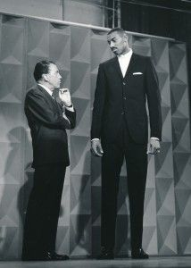 Wilt Chamberlain with Ed Sullivan 2 days after his record 100-point game!