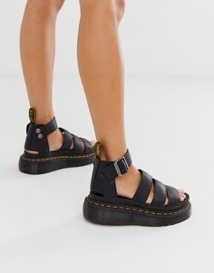 92e9debc17 Dr Martens Clarissa II quad chunky sandals in black | ASOS Chunky Sandals,  Dr.