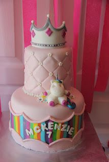 McKenzies Unicorn Princess Bday Cake Birthday Party