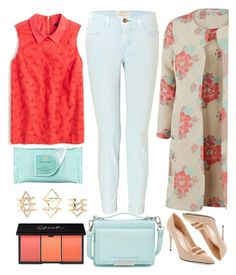 """street style"" by ecem1 ❤ liked on Polyvore featuring Gina Bacconi, Vince Camuto, Gucci, Current/Elliott, J.Crew, Estée Lauder and Charlotte Russe"