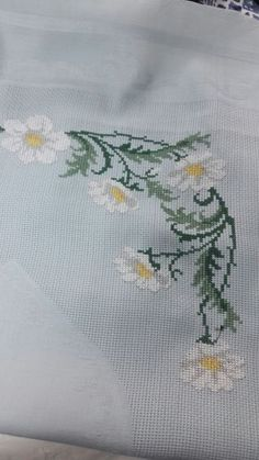 This Pin was discovered by Ayş Cross Stitching, Cross Stitch Embroidery, Hand Embroidery, Cross Stitch Rose, Cross Stitch Flowers, Cross Stitch Designs, Cross Stitch Patterns, Palestinian Embroidery, Floral Embroidery Patterns