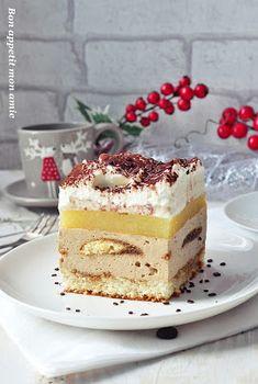 Bon appetit mon amie: Kostka kawowa z musem gruszkowym Biscotti, Nutella, Pumpkin Cheesecake, No Bake Cake, Bon Appetit, Vanilla Cake, Tiramisu, Sweets, Baking
