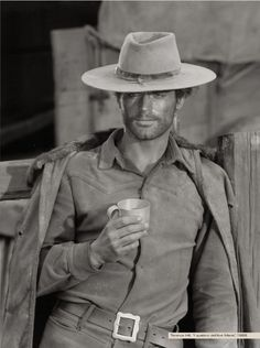 Terence Hill. I loooove his Spaghetti Westerns with Bud Spencer. Total stud.