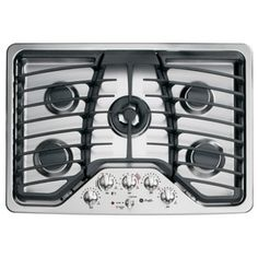 Shop GE Profile Profile 30-in 5-Burner Gas Cooktop (Stainless) at Lowes.com