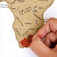 Scratch Map, laat zien waar je overal geweest bent