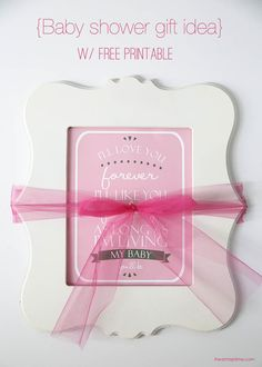baby shower gift idea with free printable on iheartnaptime.com