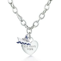 pretty navy wife necklace!... I know a few of my friends would love this