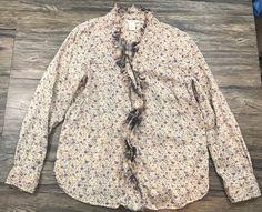 Sundance Long Sleeve Top Floral Fringe Boho Womens Sz L*  | eBay
