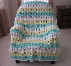 Springtime Lace Easy Crochet Afghan Pattern