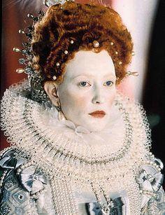 Tudor Make-up & Cosmetics - The Elizabethan era Queen Elizabeth I set the fashions and as she… Elizabethan Fashion, Tudor Fashion, Elizabethan Era, Elizabeth I, Queen Elizabeth Movie, Theatre Costumes, Movie Costumes, Anne Boleyn, Renaissance Makeup