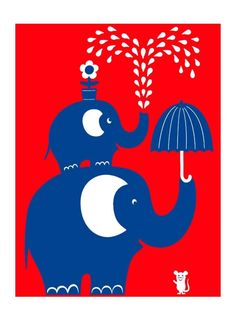 Elephants. Poster. By Human Empire.