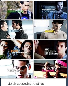 Teen Wolf ~ Derek according to Stiles