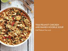 RAMEN 10 WAYS – Thai Peanut Chicken and Ramen Noodle Soup