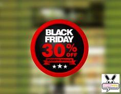 cartel vinilo circular personalizado black friday cristales tiendas