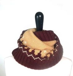 Tan and Brown Nordic Cowl #miriboheme #accessories #beauty #bohemian #boho