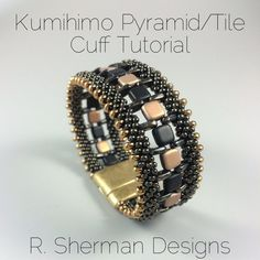 PDF TUTORIALS Kumihimo Pyramid/Tile Cuff par RShermanDesigns