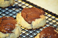 Chocolate Hazelnut Peanut Butter Dipped Cookies