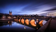 Angers City at Night by JV BANNWARTH on 500px