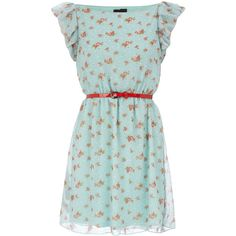 Vintage floral dress by dorothyperkins.com. An amazing and affordable site that is a step above Forever 21 in style and construction, made for juniors and women alike.