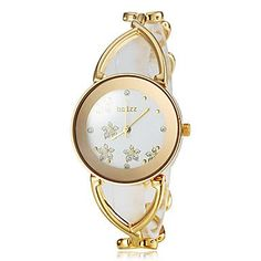 WCG Womens Graceful Flower Pattern Dial Steel Band Bracelet Watch Assorted Colors Cool Watches Unique Watches  silver *** Click image to review more details.