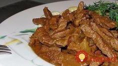 Ako pripraviť najlepšie mäso Stroganov?