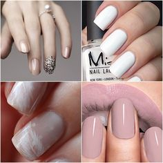 We're ready to inspire you with these trendy neutral colored wedding nails. From embellishments to classic french manicures, take a look to be inspired. Neutral Nail Polish, Nail Polish Trends, Best Nail Polish, Nail Polish Colors, Neutral Wedding Nails, Wedding Pedicure, Wedding Day Nails, Classic French Manicure, French Manicures
