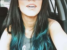pontas do cabelo azul turquesa - Pesquisa Google