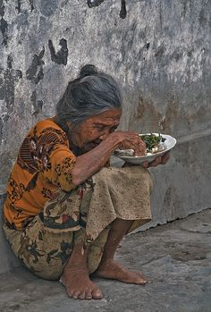 Hunger - The elderly should be cared for around the world by governments if not by individuals and churches.
