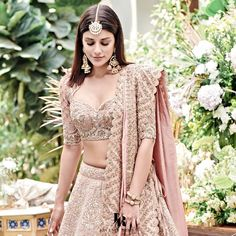 Then you are going to love the latest Jayanti Reddy Summer Lehengas. Beautiful scallop dupatta, fit & flare lehenga skirt + more. Indian Bridal Outfits, Indian Bridal Fashion, Indian Fashion Dresses, Dress Indian Style, Indian Designer Outfits, Bridal Dresses, Wedding Lehenga Designs, Wedding Lenghas, Lehnga Dress