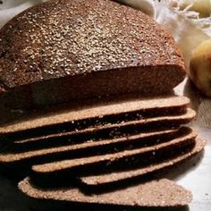 German Black Bread Is A Form Of Rye Bread That Keeps For A Long Time