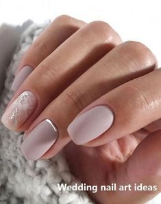 35 simple ideas for wedding nails design # wedding nails - 35 simple ideas for wedding nail design # Wedding nails – – # Wedding nails - Natural Wedding Nails, Simple Wedding Nails, Wedding Nails Design, Wedding Manicure, Mauve Nails, Pink Nails, My Nails, French Manicure Short Nails, Pin On