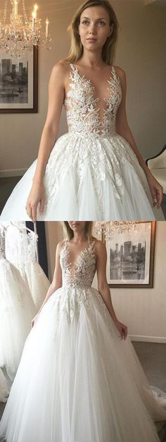 long wedding dress, white wedding dress, lace wedding dress, 2017 wedding dress