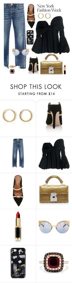 """""""What to Wear to NYFW"""" by hamaly ❤ liked on Polyvore featuring Yvonne Léon, Malone Souliers, AMO, Johanna Ortiz, Stalvey, Fendi, Marc Jacobs, Effy Jewelry, Armenta and NYFW"""