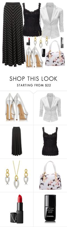 """""""mahmmod"""" by mahmmodhafes on Polyvore featuring Casadei, Doublju, Monsoon, NLY Trend, BERRICLE, NARS Cosmetics and Chanel"""