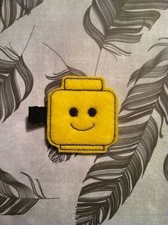 Yellow Brick Lego Head Felt Hair Clip by SpicyStitchin on Etsy, $4.00