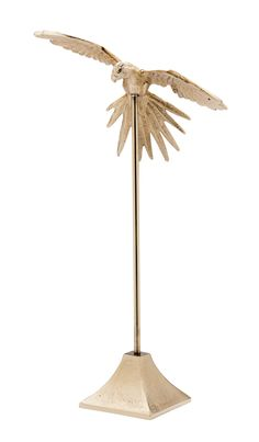 Flying Bird On Stand Large Gold Aluminum