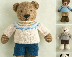 Please note: This listing is for the KNITTING PATTERN to make the pictured toy and NOT FOR A FINISHED ITEM  This pattern is written in