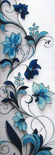 May make a nice stained glass design Stained Glass Paint, Stained Glass Flowers, Stained Glass Crafts, Stained Glass Designs, Stained Glass Panels, Stained Glass Patterns, Stained Glass Tattoo, Glass Door Designs, Glass Wall Design