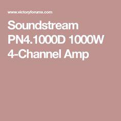 Soundstream PN4.1000D 1000W 4-Channel Amp