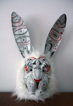 a Costume Ideas, Costumes, Here Comes Peter Cottontail, Facades, Rabbits, Masquerade, Crowns, Wonderland, Carving