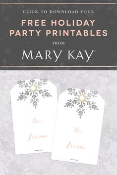 Giving is always better than receiving, especially with free printable holiday gift tags inspired by the spirit of the season.   Mary Kay