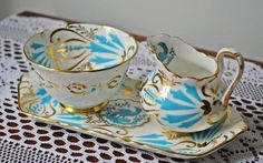 Royal Chelsea Cream Sugar And Tray, Royal Chelsea Bird Of Paradise Demitasse Size, Blue Bird by Collectitorium on Etsy Cream And Sugar, Bird Design, Sugar Bowl, Blue Bird, Chelsea, Tea Cups, Christmas Gifts, Tray, Turquoise