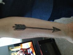 Love this arrow tattoo, not the placement though