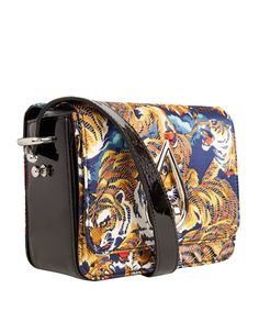 Has she been talking about getting a new bag? Then this cross-body bag from Kenzo is just the one for her. - Flying Tiger Print Cross-Body Bag, £395.00. #libertywomen #CrackingLibertyChristmas