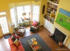 Bright #FamilyRoom ideas | Click through for Full Home Tour