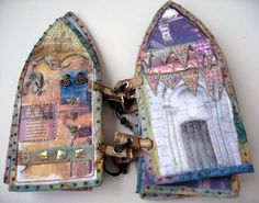 Gothic Arch fabric journal by Beryl Taylor...LOVE!!!