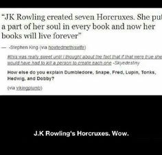 """And this is why she sat up bawling her eyes out at night when she had to """"kill off"""" a beloved character."""